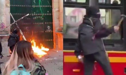[VIDEO] Vandalismo y enfrentamientos empañaron el Día de la Mujer en Bogotá