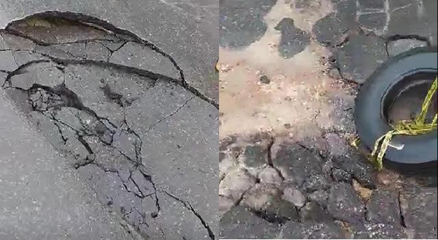 Se rompió la tubería del acueducto en la avenida 3M de Soacha