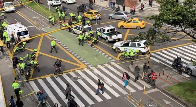 [VIDEOS]  Capturan implicado en balacera que deja un policía y un civil muertos en Bogotá