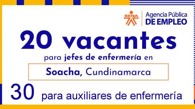 Ofertas de empleo en el sector salud en Soacha