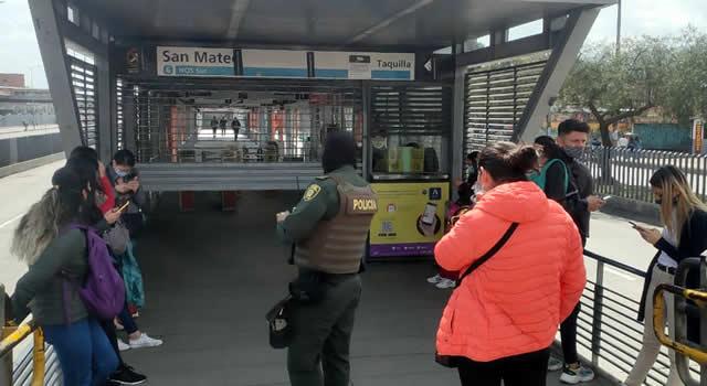 Cierran estaciones de Transmilenio en Soacha