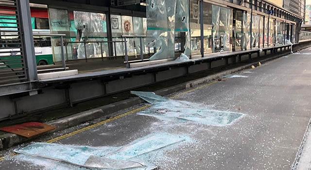 San Mateo en Soacha y otras 18 estaciones de Transmilenio no están funcionando por vandalismo