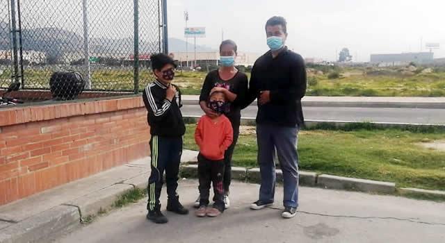 Familia humilde de Soacha quedó en la calle tras atrasarse 11 días en el arriendo