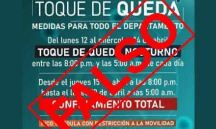 Es falsa la información que circula en redes sobre medidas restrictivas en Cundinamarca