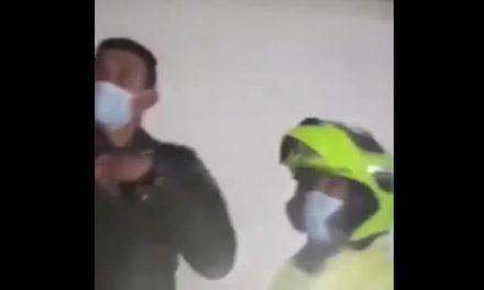 Dos policías fueron 'pillados' en fiesta clandestina en Bogotá