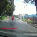 [VIDEO]  'Rompevidrios' ahora ponen obstáculos en vías de Bogotá para hacer detener los vehículos