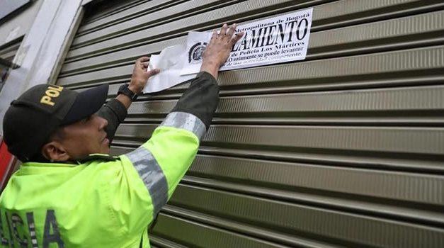 Van 16 establecimientos comerciales cerrados durante la cuarentena en Bogotá