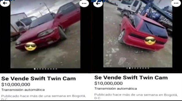 Se robaron vehículo en Bogotá y lo querían vender en Soacha