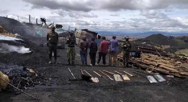 Capturadas  10 personas dedicadas a  minería ilegal en sector rural de Soacha