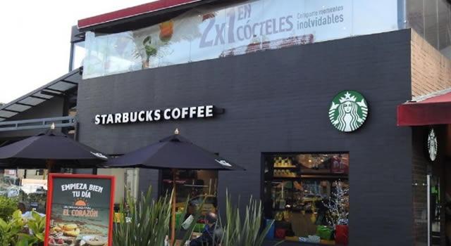 Atraco millonario con arma traumática a tienda Starbucks en Bogotá
