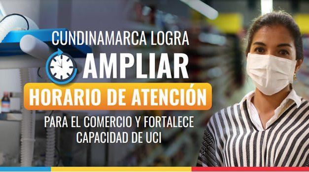 Cundinamarca logra ampliar horario de atención para el comercio y fortalece capacidad de UCI