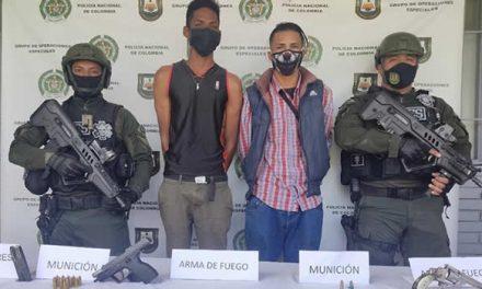 En Soacha capturan dos sujetos por porte ilegal de armas de fuego