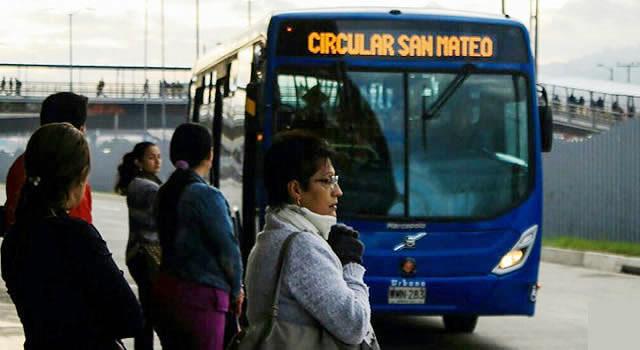 Se cancela ruta circular de Transmilenio en Soacha