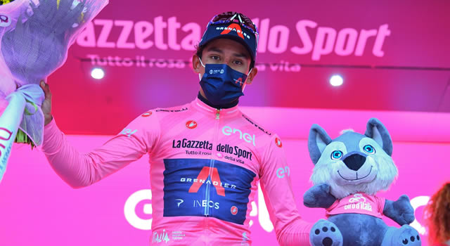 Espectacular victoria de Egan Bernal en el Giro de Italia, es el nuevo líder