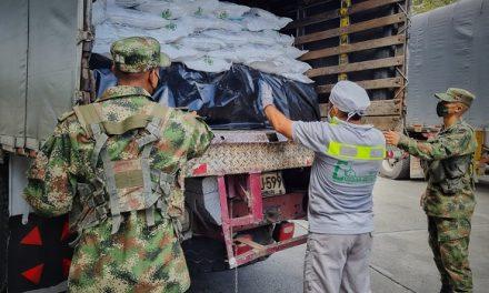 Ejército ayudó con traslado de Bienestarina