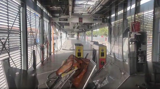 Estación San Mateo de Transmilenio en Soacha, la más dañada durante protestas