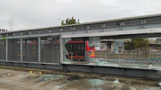 Estaciones de Transmilenio fuera de servicio en Bogotá y Soacha