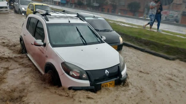[VIDEO]  Así quedó Soacha después de la lluvia de este domingo