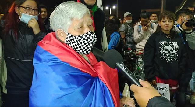Mujer de 75 años es el símbolo de las protestas en Soacha