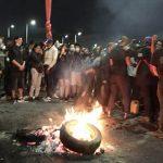 Protesta en Bogotá termina en robo