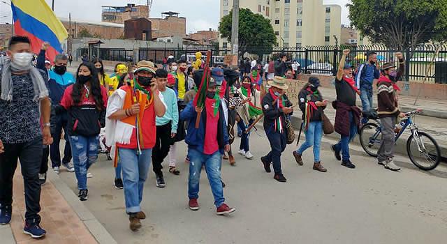 Delegación de la Minga Indígena llegó a Soacha