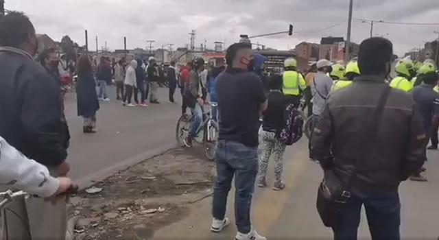 Transportadores protagonizaron protestas de este lunes en Soacha