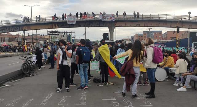 Manifestaciones en calle 22 de Soacha son lideradas por ambientalistas