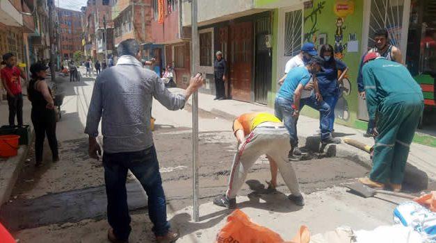 Con reductores de velocidad buscan frenar delincuencia en barrio de Soacha