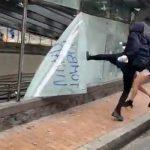 [VIDEO]  Vandalizan estación Museo Nacional  durante protestas de este sábado en Bogotá