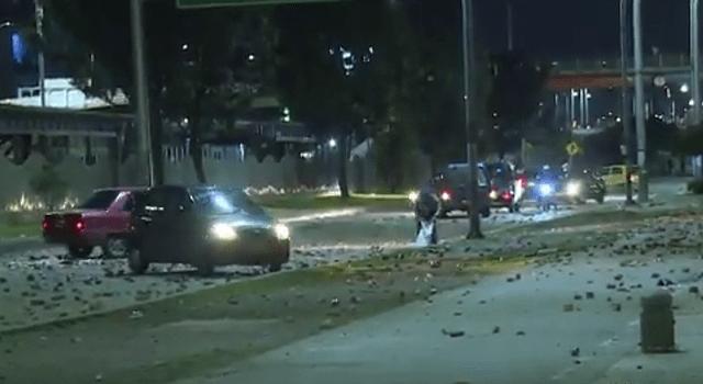 Con choques llenos de violencia terminó jornada de paro de transporte en Soacha