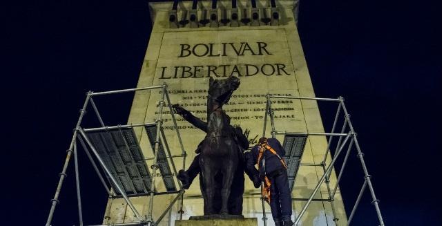 Estatua  de Bolívar será retirada de Los Héroes