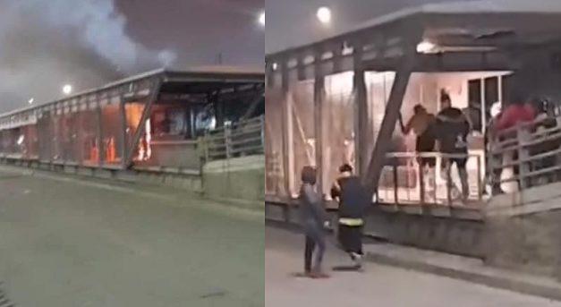 Estación Transmilenio de San Mateo, incendiada la noche del primero de mayo