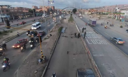 Sin bloqueos fluye tráfico en la autopista Sur en Soacha