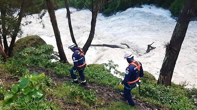 Buscan joven que se fue al río cerca del Salto del Tequendama