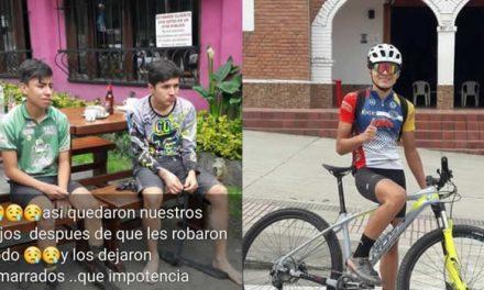 A dos ciclomontañistas de Soacha los atracan, los amarran y hasta descalzos los dejan