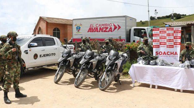 Soacha entrega al Ejército cerca de $300 millones en dotación para fortalecer seguridad rural