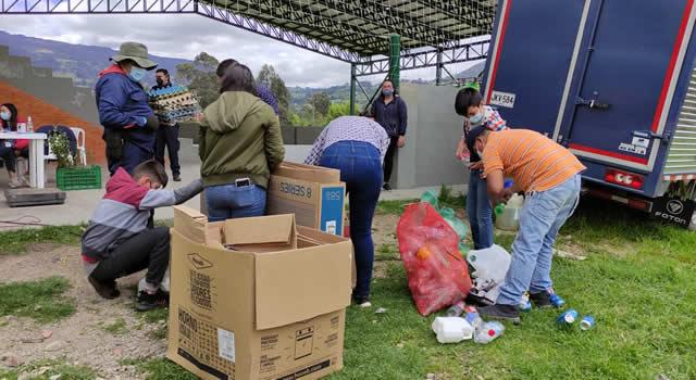 Cogua completa tres toneladas de reciclaje recolectadas a través del EcoTrueque