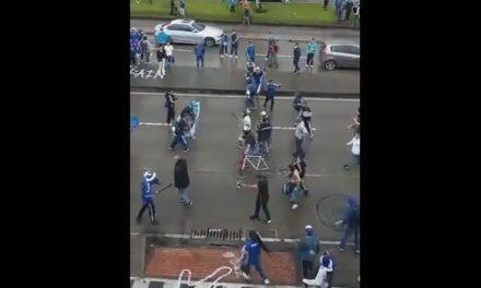 [VIDEO] A Machete se enfrentaron hinchas de Millonarios tras derrota con Tolima en Bogotá