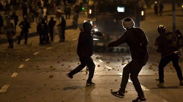 Otra noche de vandalismo y violencia en Bogotá