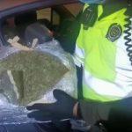 Cae vehículo cargado de marihuana en Fusagasugá