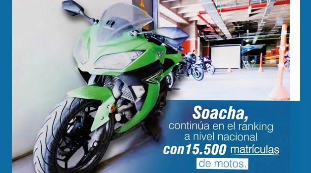 Soacha es la segunda ciudad del país donde más motocicletas se matriculan