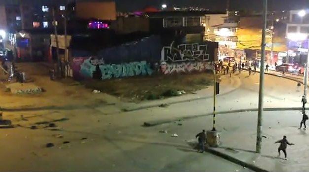 Enfrentamientos en la autopista Sur de Soacha por intervención del Esmad