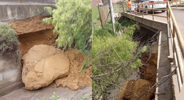 Centro de Soacha y sector Puente Micos quedarían incomunicados por derrumbe