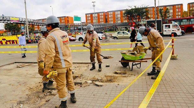 Lo destruido comienza a repararse en el Portal Américas de Bogotá
