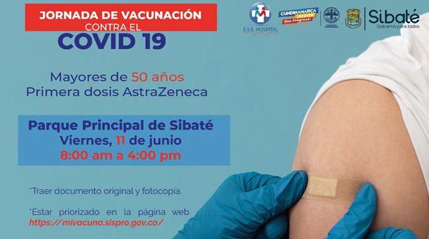 Jornada de vacunación contra el Covid-19 en Sibaté