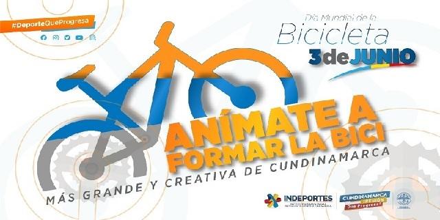 """Departamento celebra el día  Internacional de la Bicicleta, """"Rodando por Cundinamarca 2021"""""""