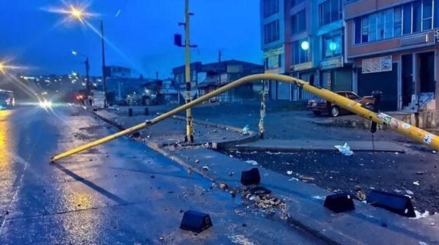 Recuperar infraestructura vial por vandalismo en Bogotá supera los $6.900 millones