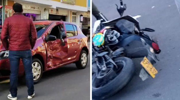[VIDEO]  Muere motociclista tras violento choque en Bosa Naranjos