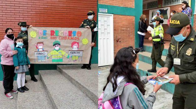 Distrito Especial de Policía Soacha dio la bienvenida a los estudiantes del colegio El Bosque