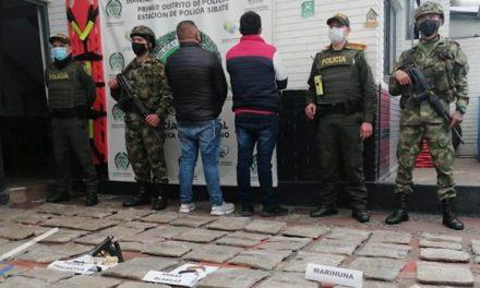 Cae cargamento de marihuana en Sibaté, Cundinamarca